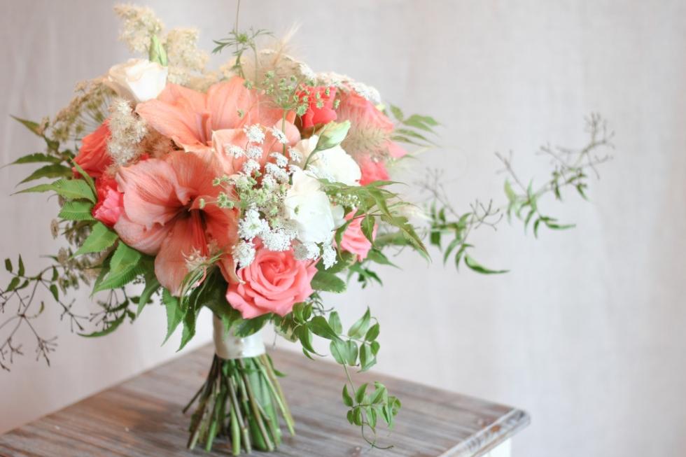 Lake Geneva, Wisconsin wedding bouquet by Frontier Flowers of Fontana