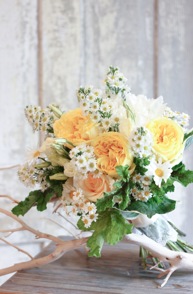 Summer garden bouquet by Frontier Flowers of Fontana