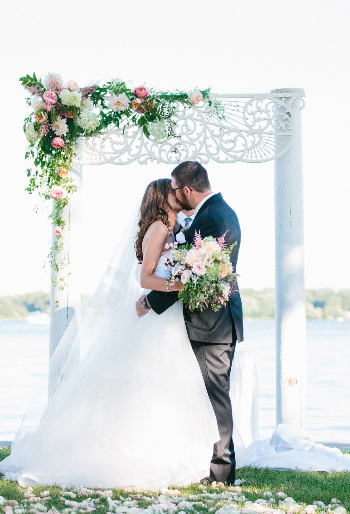 Stunning garden wedding at Lake Lawn Resort designed by Frontier Flowers of Fontana. Graciously Provided by: Kristina Lorraine
