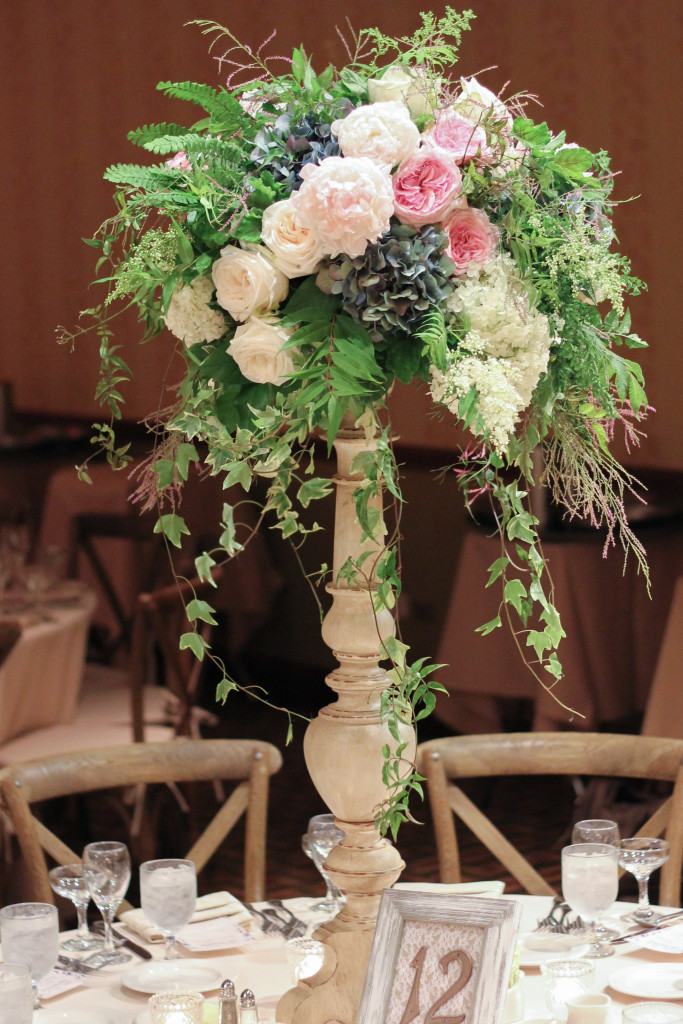 Summer wedding at Lake Lawn Resort designed by Frontier Flowers of Fontana.