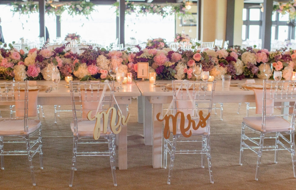 Gorgeous wedding at Lake Geneva Country Club designed by Frontier Flowers of Fontana.